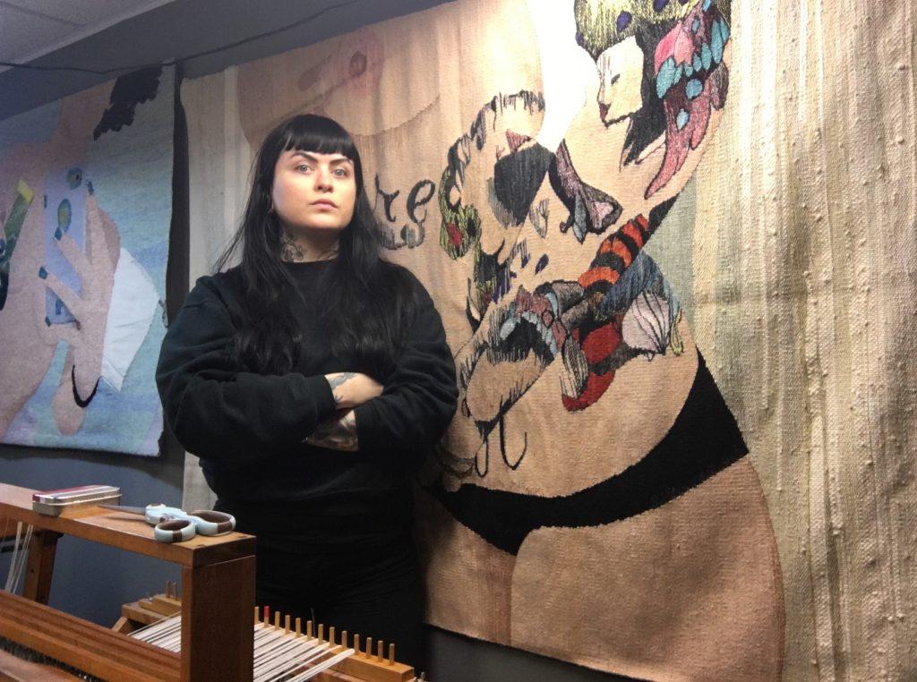 Erin in her studio. Photo: April Kilcrease