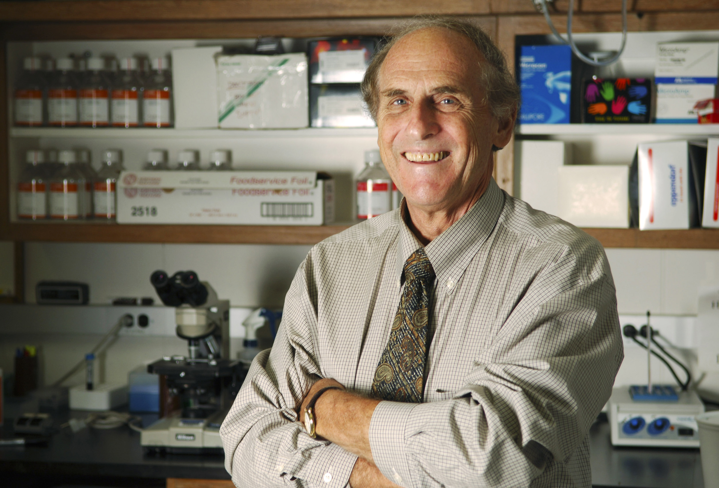 Ralph M. Steinman, an immunologist at Rockefeller University, taken in 2011. Source: Rockefeller University