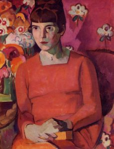 Portrait of Katherine Mansfield by Anne Estelle Rice.