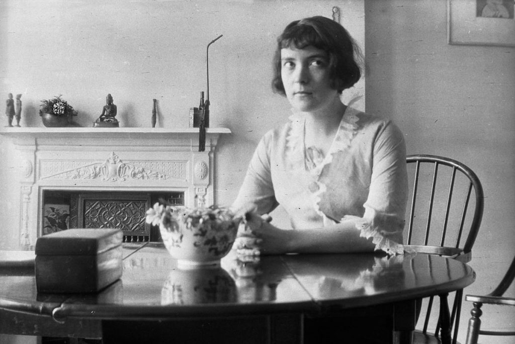 A rare photograph of Katherine Mansfield during her life.