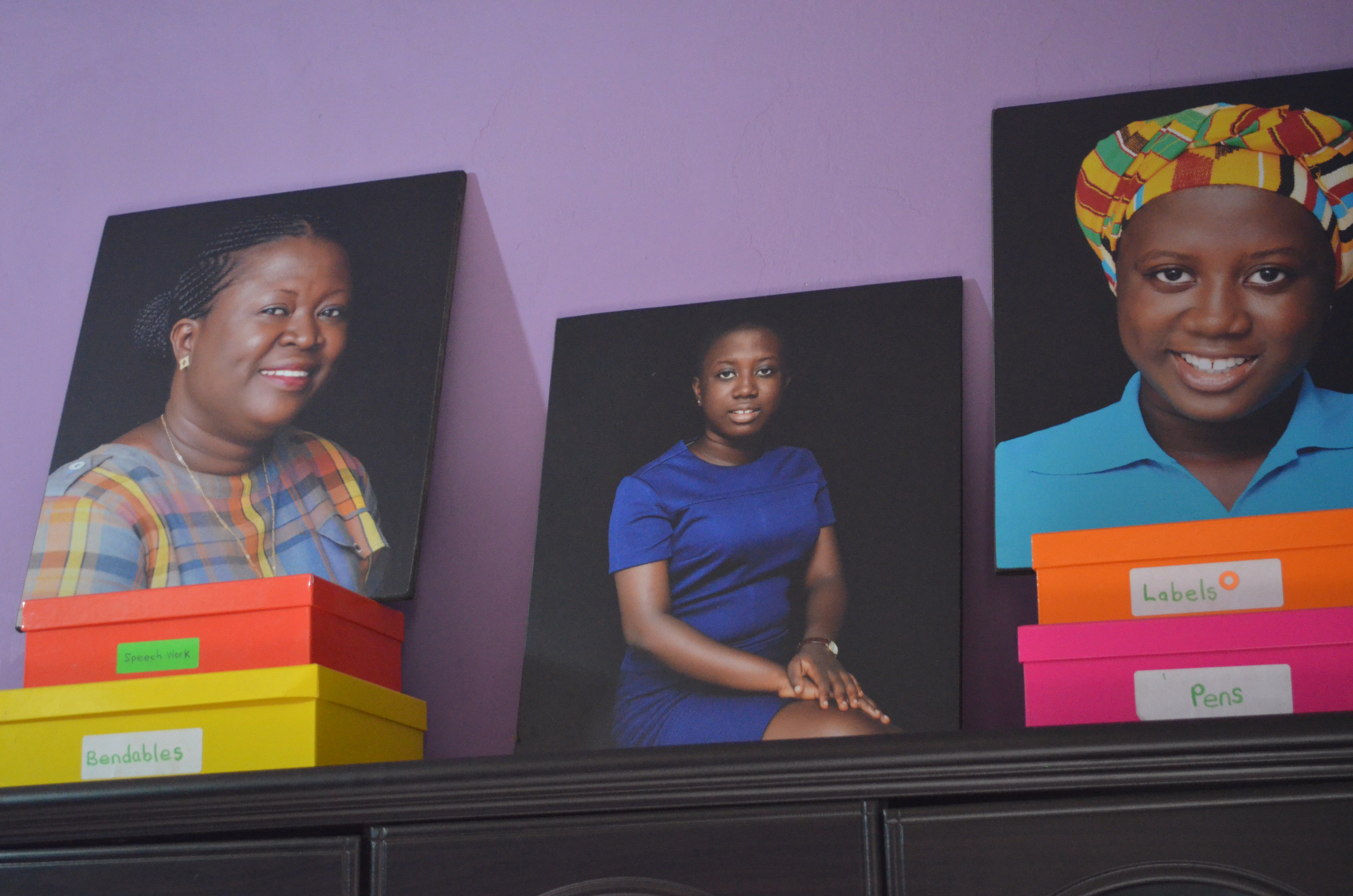 Renata's family portrait, amongst the other women of her family.