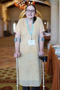 Despite mobility issues brought on by her condition, Carla stays as active as she can.