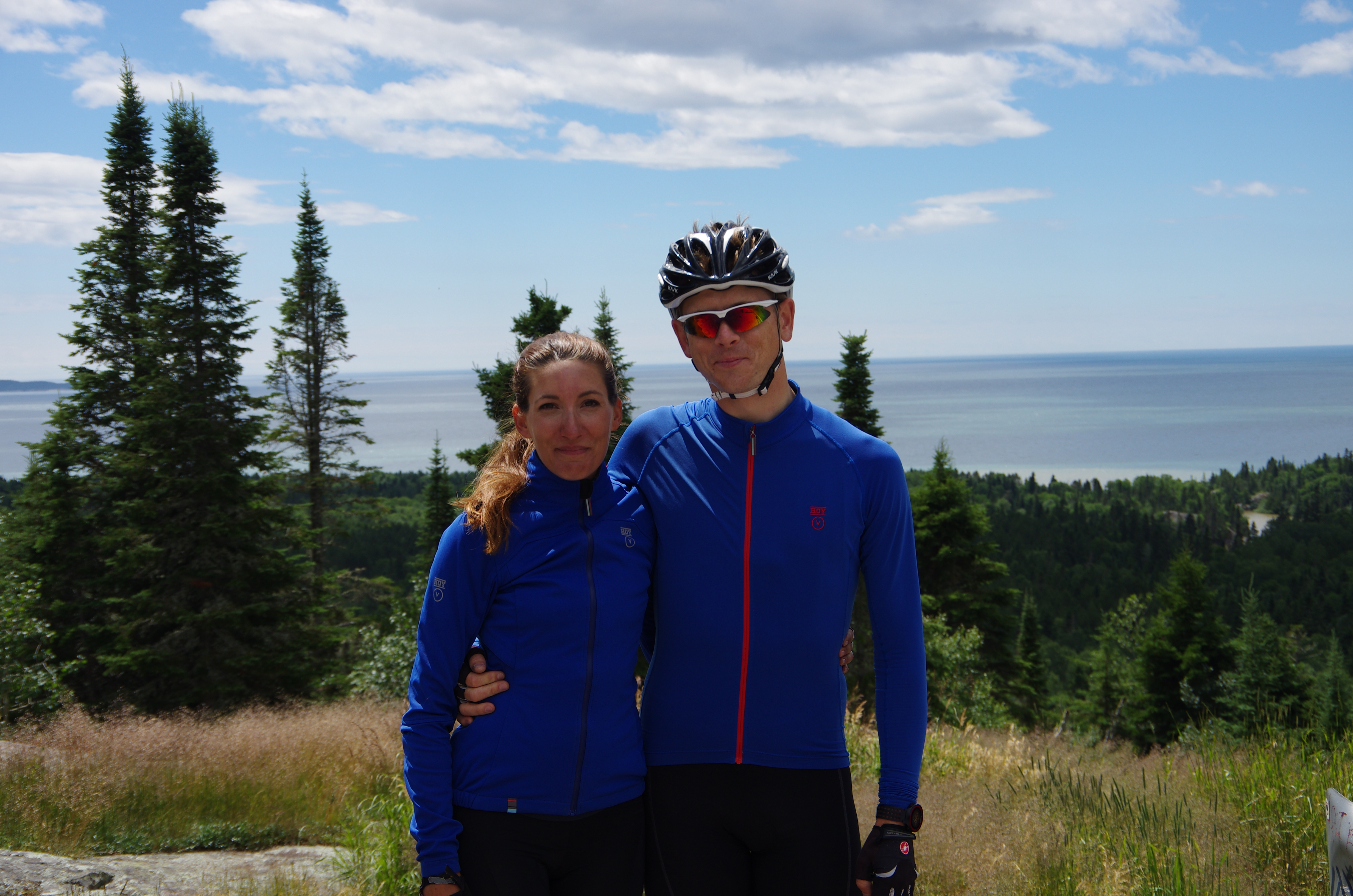 Michelle and her riding partner, Nathan.