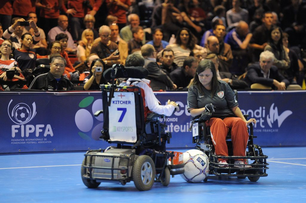 In power soccer, wheelchairs sometimes catch on fire.