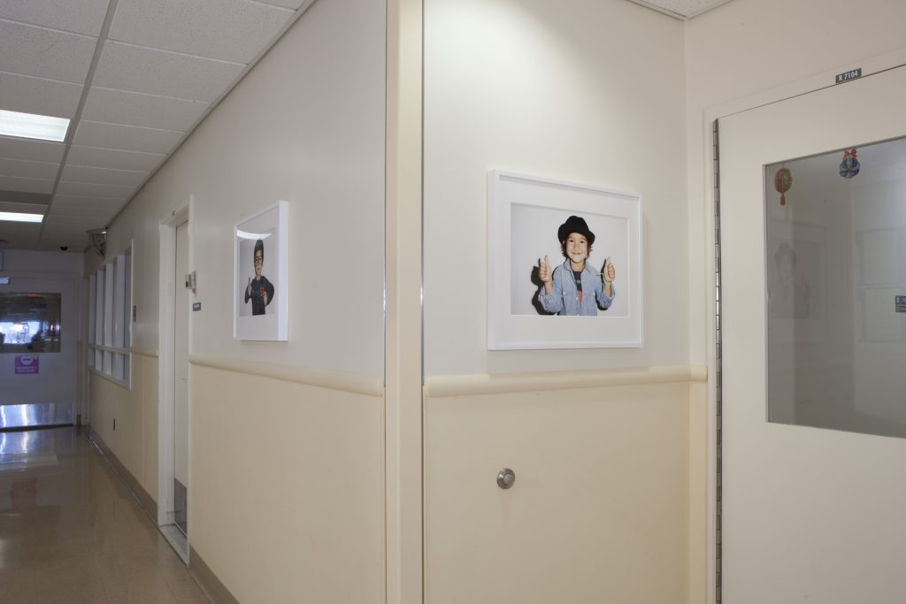 Terry Richardson's photographs hang on the walls of King's County hospitals.