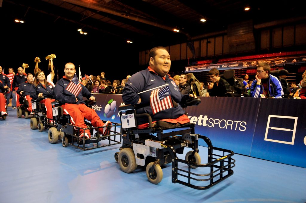 The U.S. Power Soccer champion team.