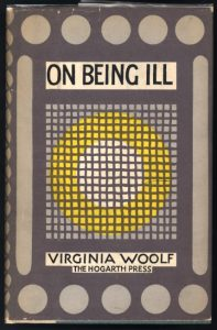 "The cover to the Hogarth Press edition of ""On Being Ill."""