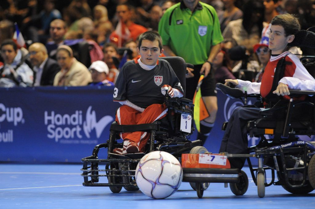 Power soccer can be surprisingly fast and dangerous. Photo: Escot Goodman