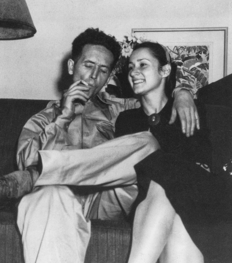 Guthrie and his second wife, Marjorie, who cared for him even after their divorce.
