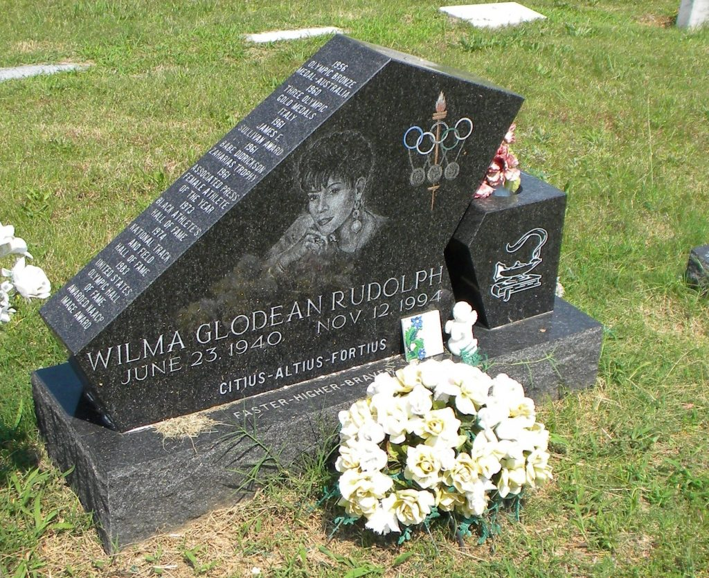 Wilma Rudolph's grave remembers her as a champion.