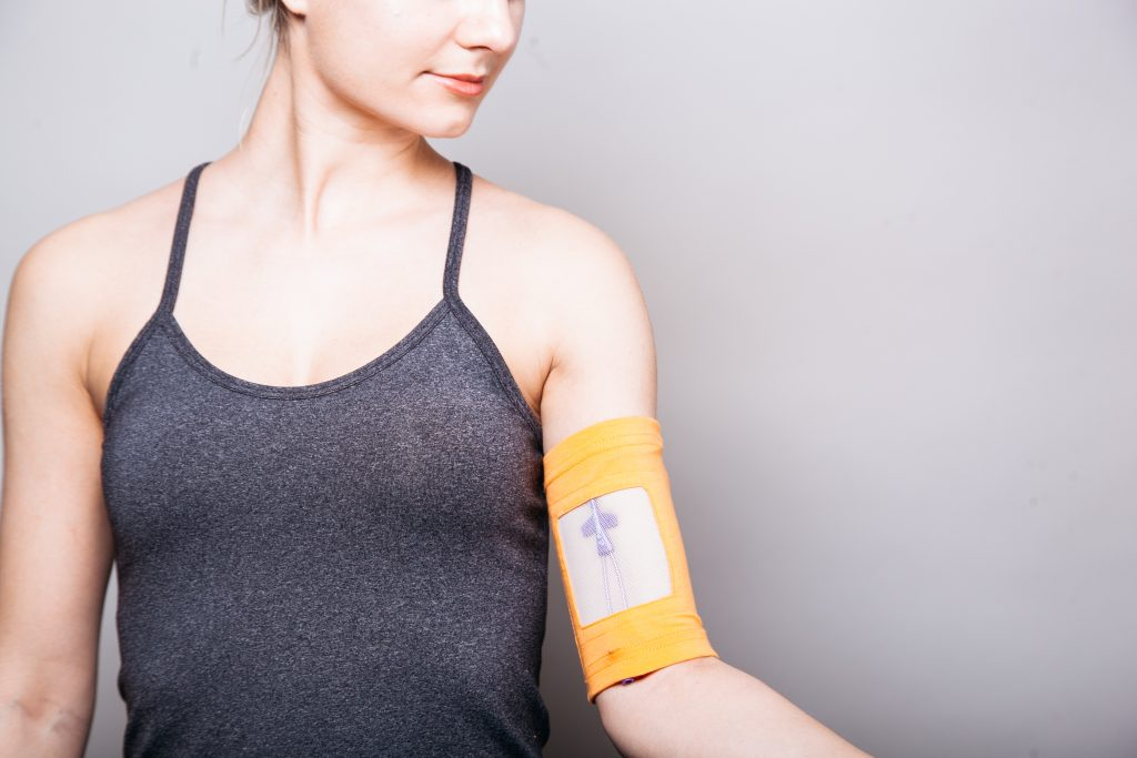 Care+Wear's armband is fashionable and keeps PICC lines secure.