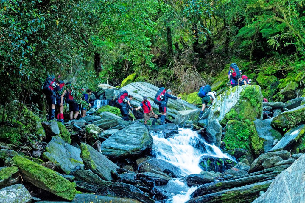 The Outward Bound program tests participants with adventures in the New Zealand wilderness.