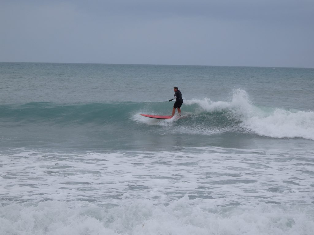 When she's not climbing mountains and exploring forests, Lee loves to surf.