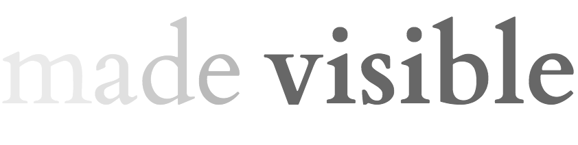 Made Visible podcast logo.